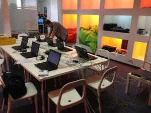 Vorbereitung: Minecraft-Session im Besprechungsraum