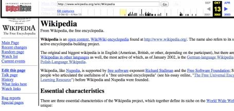 WaybackWikipedia