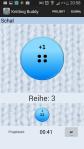 Man kann die Reihen einfach duch drücken des großen Buttons mitzählen lassen. Ebenso kann man die Arbeitszeit stoppen.