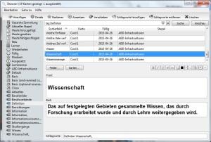 Die Bearbeitung kann auf dem mobilden Geräten, im Browser oder wie hier, im Programm auf dem Rechner erledigt werden.